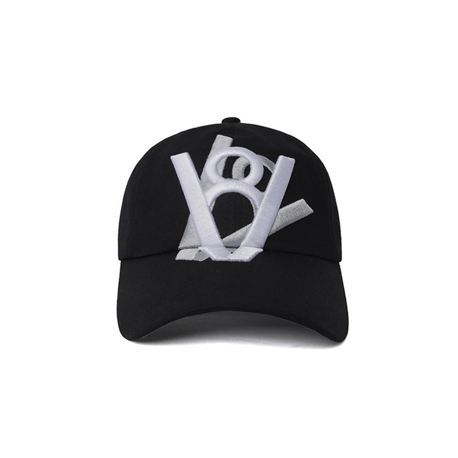 DOUBLE LOGO CROSS BALL CAP (BLACK)