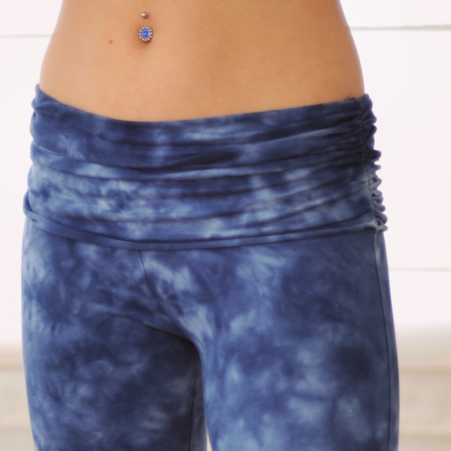 Half moon pants blue (Generous size)