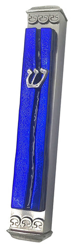 Weatherproof Mezuzah-Parting of the Sea Art Glass (Click for Color Options)