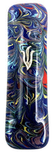 Load image into Gallery viewer, Blue Tie Dye Art Glass Mezuzah