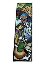 Load image into Gallery viewer, Klezmer Music Art Glass Mezuzah