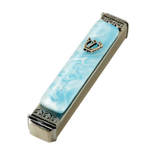 Load image into Gallery viewer, Weatherproof Mezuzah - Colorful Marbleized Art Glass  (Click to See More Color Options)