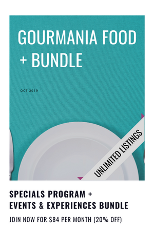 20% SAVER BUNDLE: Gourmania food specials + events & experiences