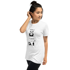 Short-Sleeve Unisex T-Shirt- PANDA INHALE  EXHALE