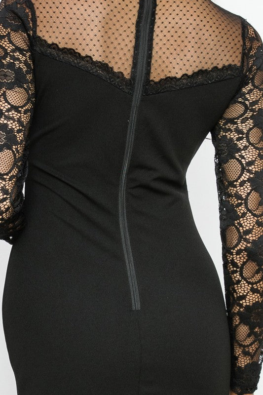 Posh Lace Dress