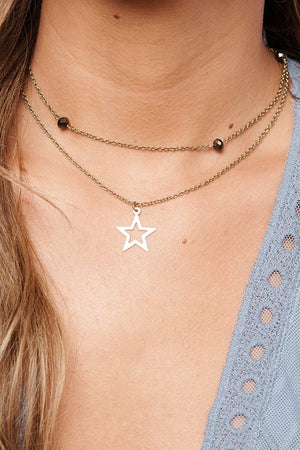 Textured Star Necklace