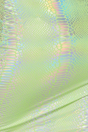 Holographic Snakeskin Dress