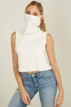 CROPPED TANK WITH MASK