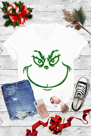 Grinch Graphic Tee (V-NECK)