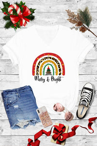 MERRY & BRIGHT TEE (V-NECK)