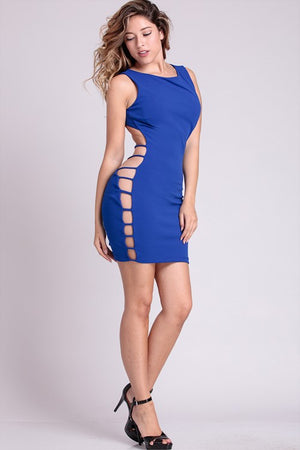 Ladder Cutout Bodycon Dress