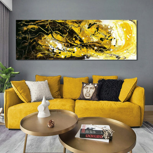 Abstract Painting Black and Yellow