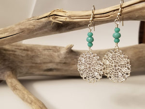 Snowflake Filigree Earrings