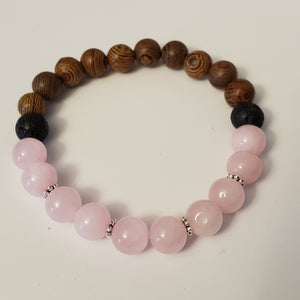 Rose Quartz Wooden - Size Medium