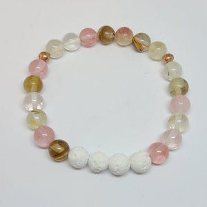 Watermelon Quartz Crystal- Size Medium