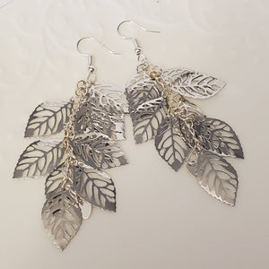 Silver Leaves Filigree Earrings