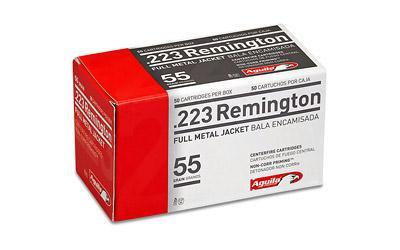 Ammunition-Aguila Ammunition, Rifle, 223 Rem, 55 Grain, Full Metal Jacket FMJ | 50RDS-Cobratac SKU 640420003054