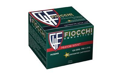 Ammunition-Fiocchi 7.62x39 Fmj 124 Grain Weight 20-1000-Cobratac SKU 762344704951