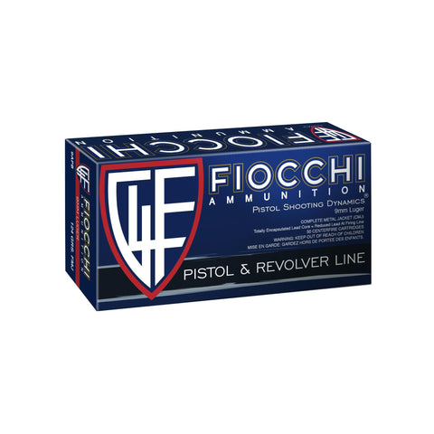 Ammunition-Fiocchi 9mm 124 Grain Weight Fmj 50-1000-Cobratac SKU 762344001678