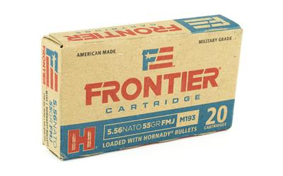 Ammunition-Frontier 556nato 55 Grain Weight Fm193 20-500-Cobratac SKU 090255711394