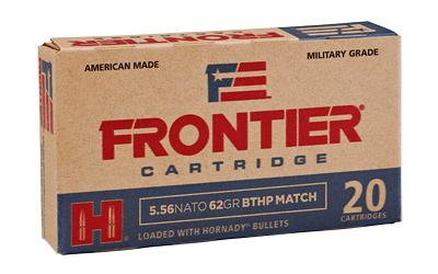 Ammunition-Frontier 556nato 62 Grain Weight Bthp Mtch 20-5-Cobratac SKU 090255711592