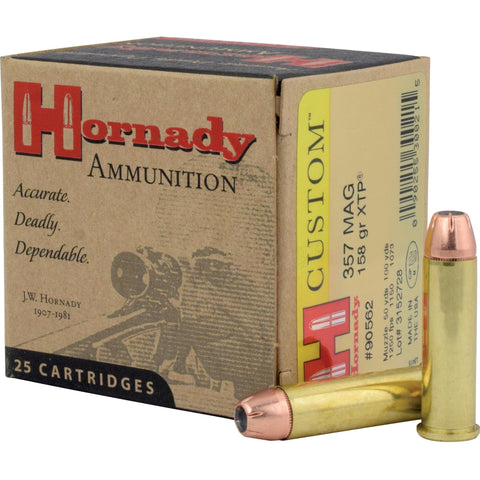 Ammunition-Hrndy 357mag 158 Grain Weight Jhp-xtp 25-250-Cobratac SKU 090255300215