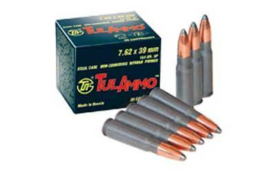 Ammunition-Tula 7.62x39 122 Grain Weight Fmj 100-1000-Cobratac SKU 814950010022