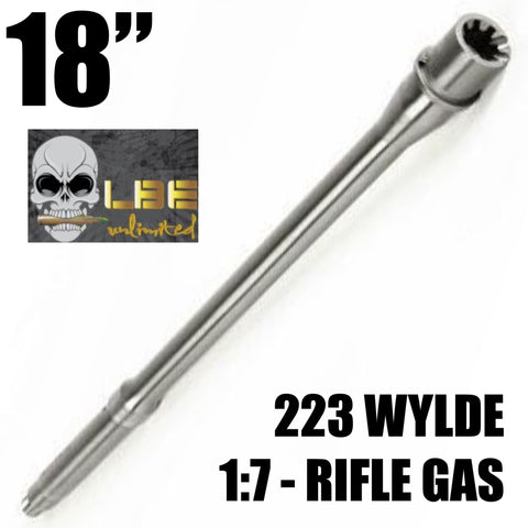 "Barrels-18"" LBE Unlimited AR-15 Barrel Assembly .223 Wylde 