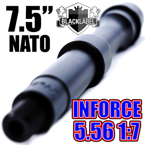 "Barrels-7.5"" INFORCE Series AR Nitride Barrel 