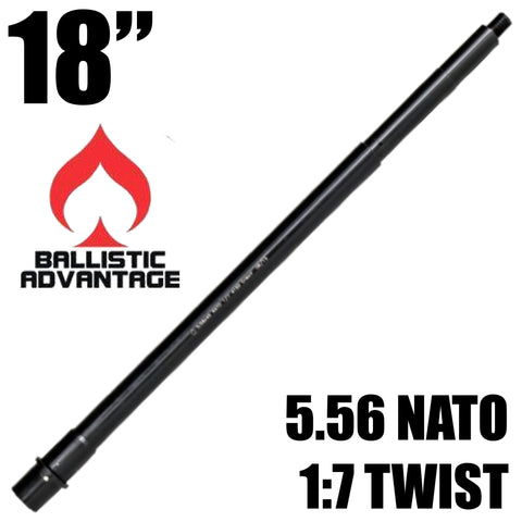 "Barrels-Ballistic Advantage 18"" 5.56 SPR Rifle Length AR15 Barrel w/ Ops 12 Modern Series-Cobratac SKU"