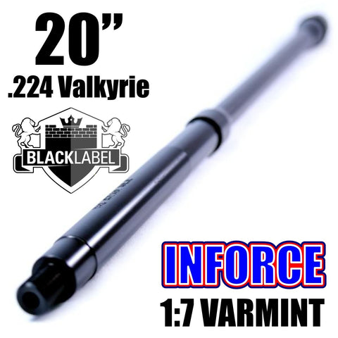 Barrels-BLACK LABEL INFORCE Series 20'' .224 Valkyrie Nitride 1:7 Varmint Barrel-Cobratac SKU
