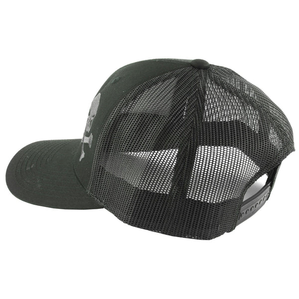 new arrivals ce08a 212e6 Phu Skull Trucker Hat Black-gry – Cobratac