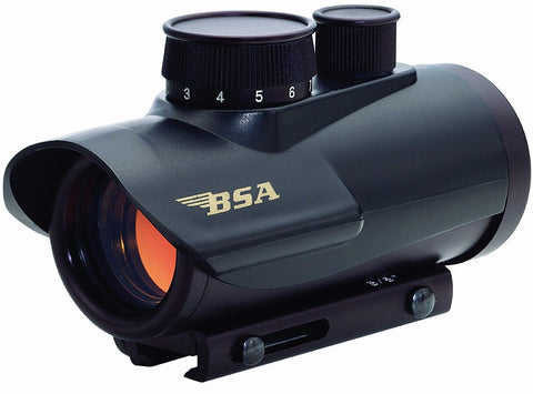 Dot Sight-BSA Optics 30mm Matte Black Finish Red Dot Sight | 5 Moa-Cobratac SKU 631618101263
