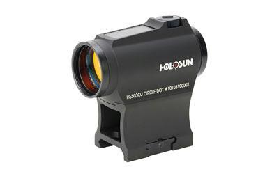 Dot Sight-Holosun Technologies Hs503cu Micro Red Dot, 2moa Dot Dual Reticles Solar Shroud-Cobratac SKU 605930624540