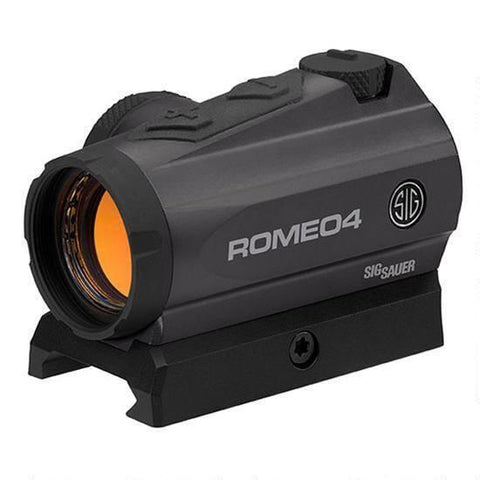 Dot Sight-Sig Sauer Romeo 4a, Red Dot Sight, M1913 Rail Interface, Graphite, 2moa-Cobratac SKU 798681545759