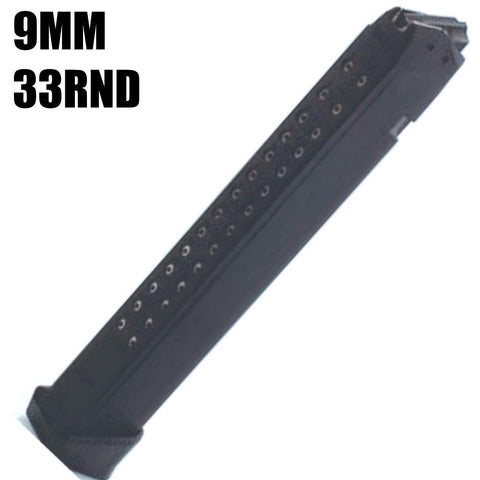 Magazines-GLOCK 9MM 33 Rounds fits all Glock 34, 17, 19 & 26, Magazine-Cobratac SKU