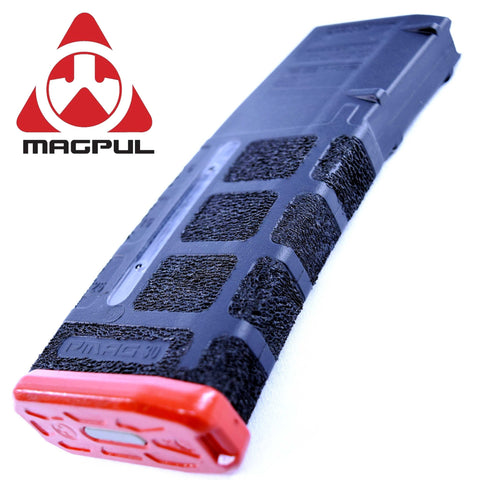 Magazines-STIPPLED MAG - MAGPUL PMAG MOE 5.56 WINDOW 30RD | BLACK/RED-Cobratac SKU MGMPI570BLK