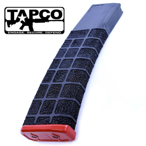 Magazines-STIPPLED MAG - PROMAG COLT AR/M4 .223 REM 42RD | BLACK/RED-Cobratac SKU MGPMCOL-A16