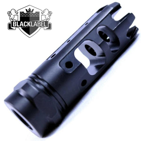 Muzzle Device-BLACK LABEL- SPECIAL K | NITRIDE 1/2X28 | 3 STAGE HYBRID BRAKE-Cobratac SKU 700598351248 kingcomp