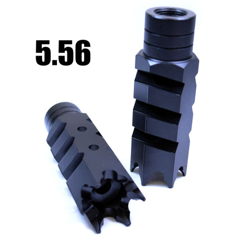 Muzzle Device-Tiger-Shark Black Muzzle Brake | .223 TigerShark-Cobratac SKU TROMIX-BREECH