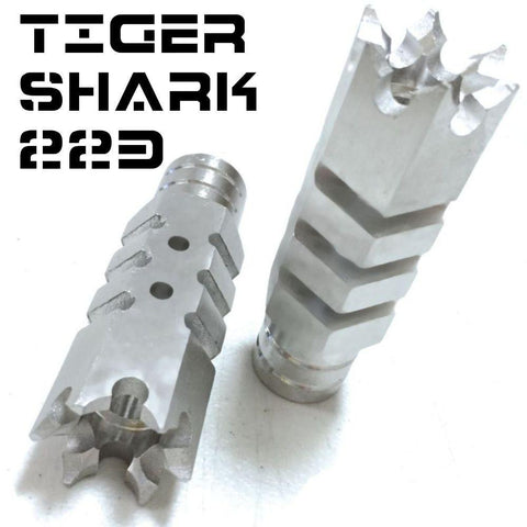 Muzzle Device-Tiger-Shark Stainless Muzzle Brake | .223 TigerShark (Tromix style)-Cobratac SKU