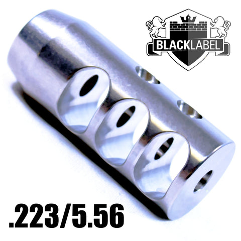 Muzzle Device-Titan Compact Competition Stainless Muzzle Brake | AR-15 .223-Cobratac SKU 884451002888