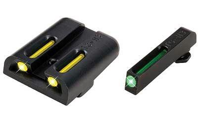 PARTS-Truglo Brite-site Tritium/fiber Optic Sight, Fits Glock 20/21/29/30/31/32 Green And Yellow-Cobratac SKU 788130020968