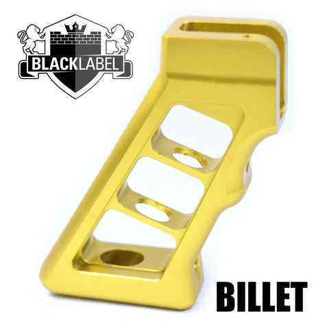 Pistol Grip-The Copeland Series Skeletonized Billet AR Grip | Gold-Cobratac SKU tyrant-titan-TD-556