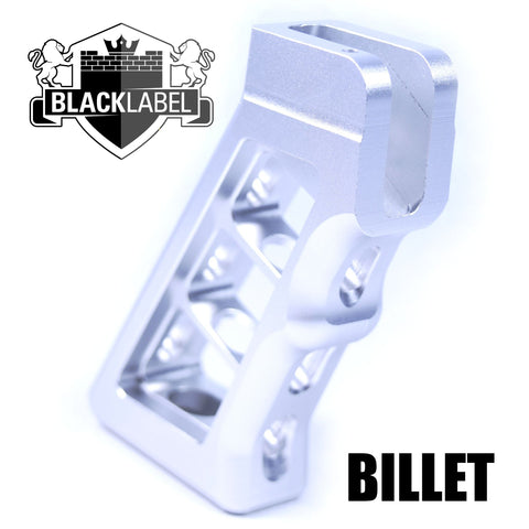 Pistol Grip-The Copeland Series Skeletonized Billet Grip | Silver-Cobratac SKU tyrant-titan-TD-556