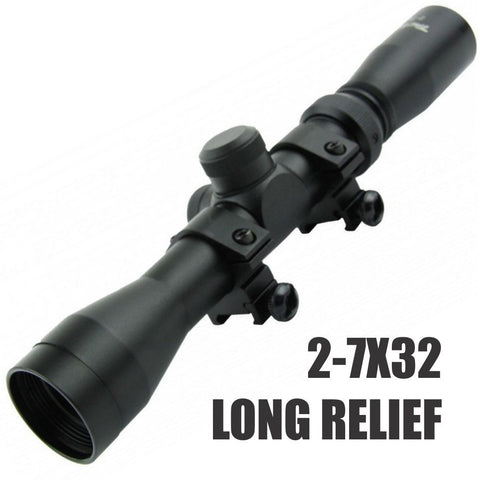 Scopes-2-7x32 LONG EYE RELIEF | Duplex Reticle-Cobratac SKU SC2732