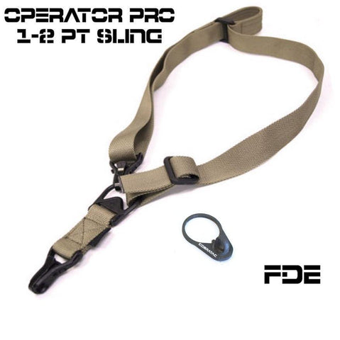 Slings-CTAC Operator PRO Multi Use Adjustable Sling | Flat Dark Earth-Cobratac SKU TG-SLE3-T