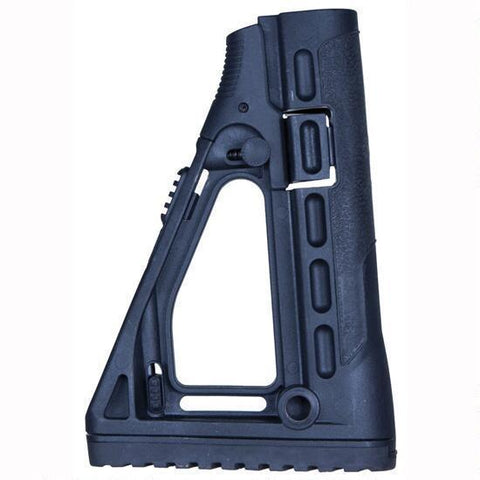 Stocks-CAA AR-15 Skeleton Style Collapsible Stock Polymer Black SBS-Cobratac SKU 814716015186