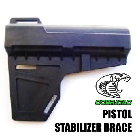Stocks-COBRATAC AR PISTOL STABILIZER BRACE | BLACK-Cobratac SKU SHOCKWAVE-BLACK