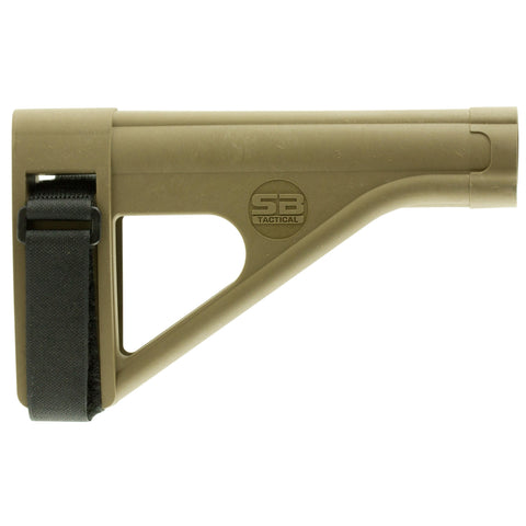 Stocks-SB Tactical Pistol Stabilizing Brace Fits AR Style Pistol Buffer Tube ATF Compliant Polymer Construction Flat Dark Earth-Cobratac SKU 699618782097